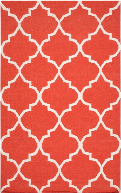 York Rug In Coral Ivory Design By Surya