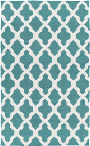 York Rug In Teal And Ivory Design By Surya