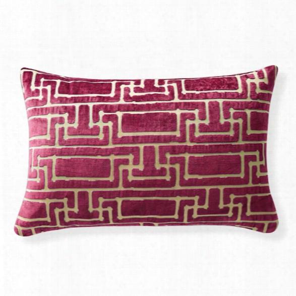 Yvan's Geo Magenta Pillow Design By Florence Broadhurst