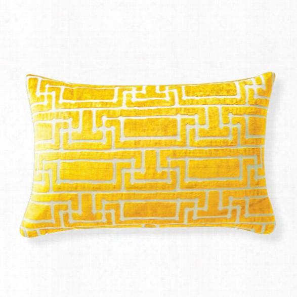 Yvan's Geo Mustard Pillow Design By Florence Broadhurst