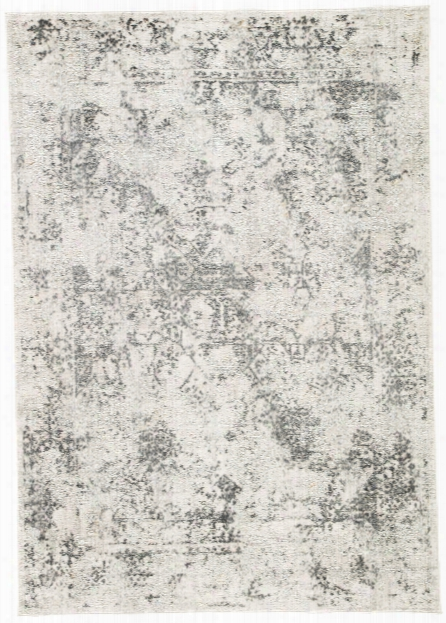 Yvie Abstract White & Gray Area Rug Design By Jaipur