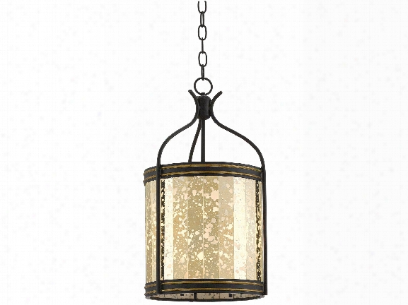 Zaire Lantern In Satin Black Design By Currey & Company