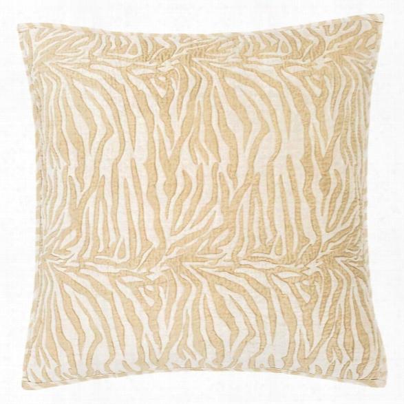 Zebre Velvet Semolina Quilted Ssham Design By Luxe