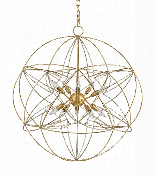Zenda Orb Chandelier Design By Currey & Company