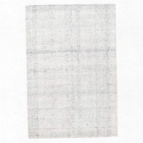 Zhivago White Micro Hooked Viscose Rug Design By Dash & Albert