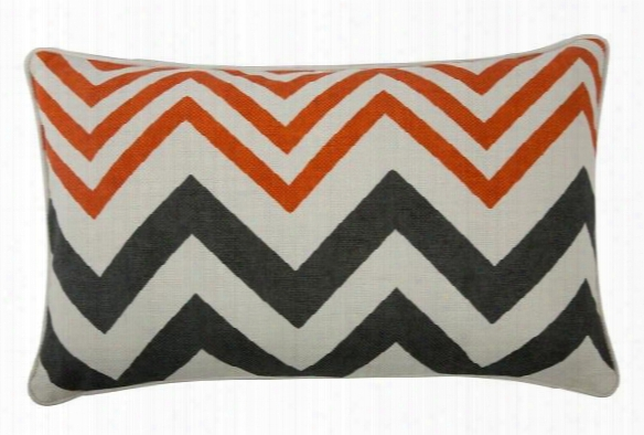 "Zig Zag 12"" X 20"" Reversible Pillow In Alcazar Design By Thomas Paul"
