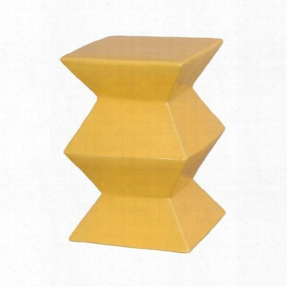 Zigzag Garden Stool In Sun Yellow Design By Emissary