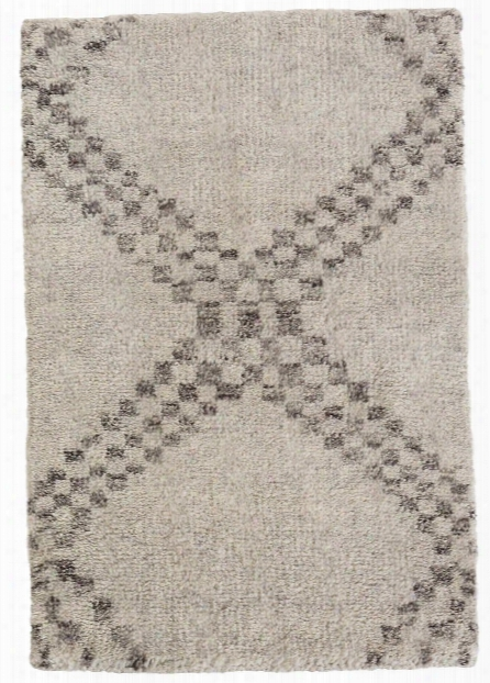 Zillah Grey Hand Knotted Woool Rug Design By Dash & Albert