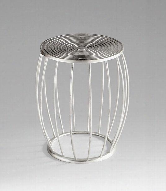 Zodiac Stool In Silver Design By Cyan Design