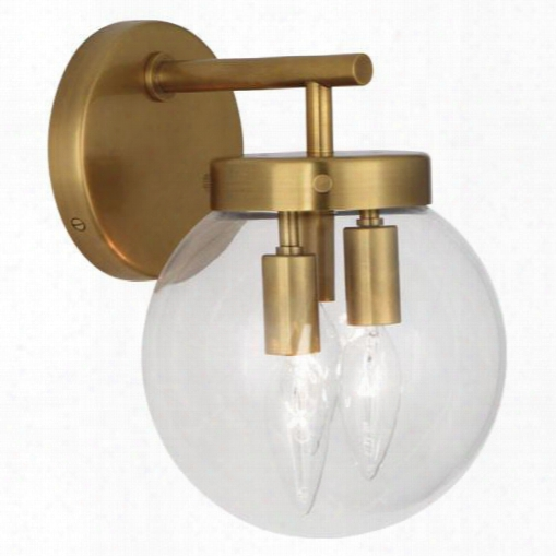 Zoltar Wall Sconce In Antique Brass Design By Jonathan Adler