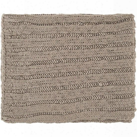 Acrylic Throw Blanket In Beige From The Timothy Collection Design By Surya