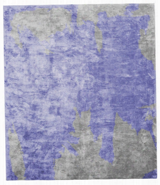 Action Caccia Hand Knotted Rug In Purple Design By Second Studio