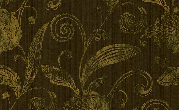 Acton Striped And Floral Wallpaper In Browns And Greens Design By Carl Robinson
