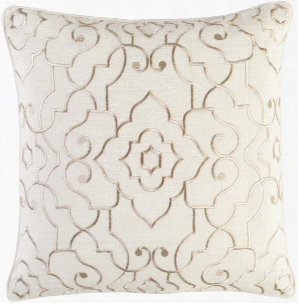 Adagio Pillow In Cream & Khaki Design By Candice Olson