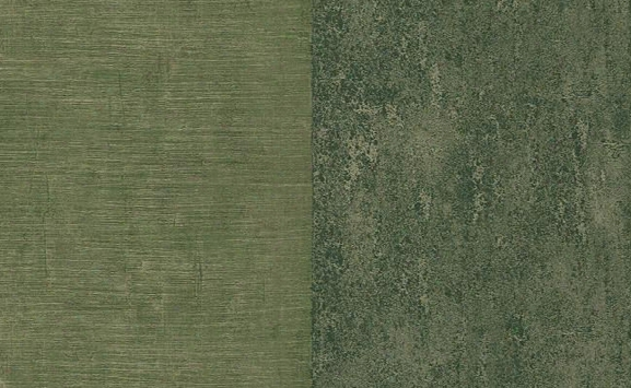 Adam Faux Texture And Stripes Wallpaper In Greens And Metallic Design  By Carl Robinson