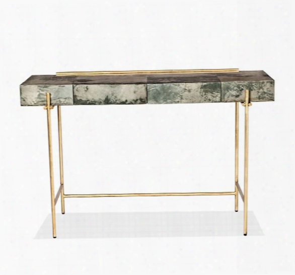 Addison Console/ Desk In Grey Design By Interlude Home