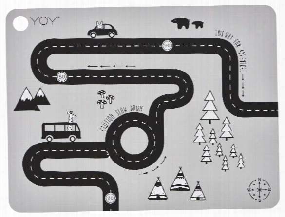 Adventure Placemat In Grey Design By Oyoy