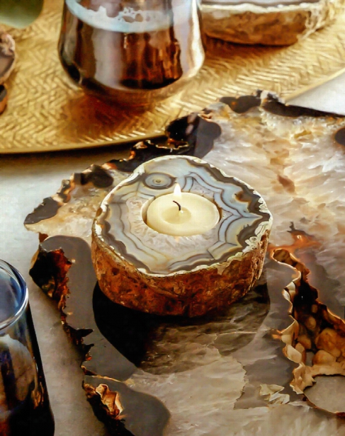 Agate Tealight Holder By Roost
