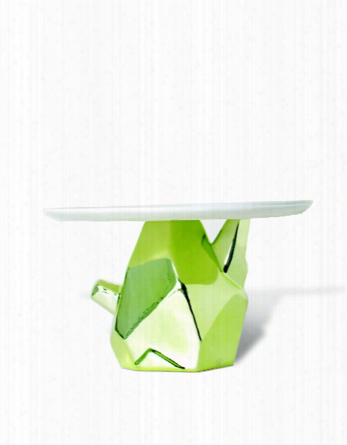 Candy Rock Cake Plate In Green Design By Imm Living
