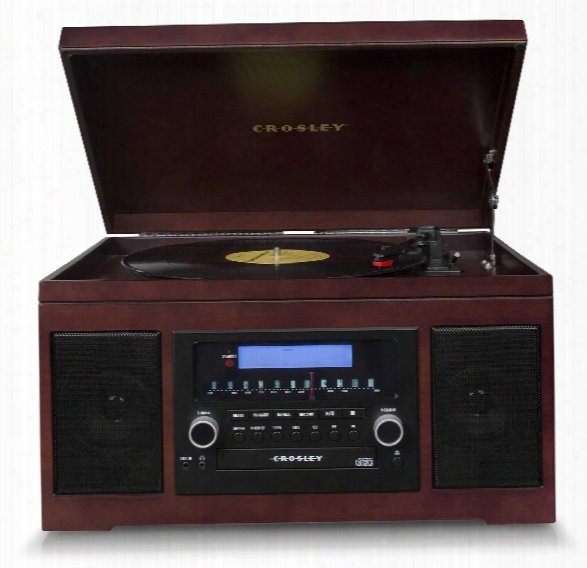 Cannon Cd Recorder In Mahogany Design By Crosley