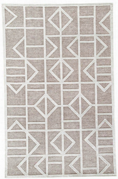 Cannon Geometric Gray & White Area Rug Design By Jaipur