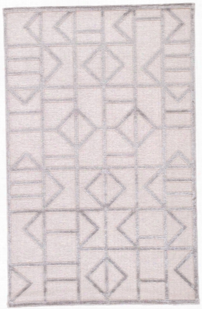 Cannon Geometric White & Silver Area Rug Design By Jaipur