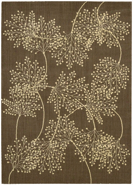 Capri Collection Wool And Viscose Area Rug In Chocolate Design By Nourison