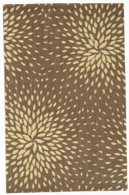 Capri Collection Wool And Viscose Area Rug In Mocha Design By Nourison