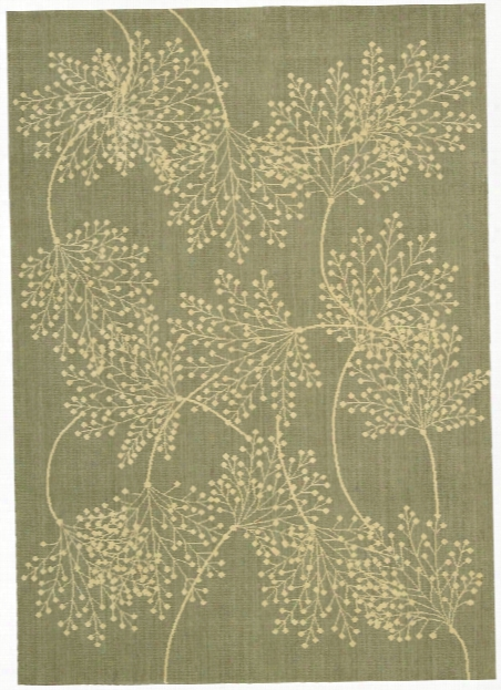 Capri Collection Wool And Viscose Area Rug In Sage Design By Nourison