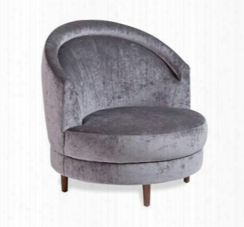 Capri Swivel Gray Lounge Chair Design By Interlude Home