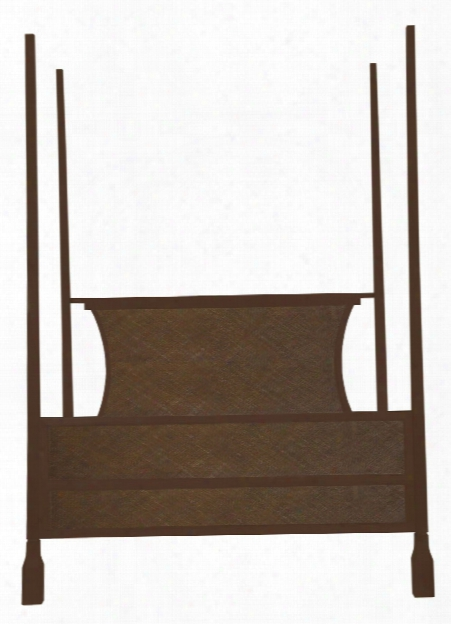 Caprice 4 Poster King Bed In Hazelnut Design By Selamat