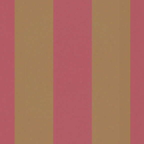 Caravan Stripe Wallpaper In Coral And Gold By Antonina Vella For York Wallcoverings