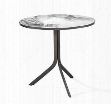 Carina Bistro Arabescato Gunmetal Table Design By Interlude Home