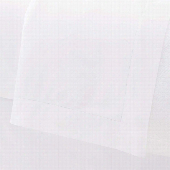 Carina White Flat Sheet Design By Luxe