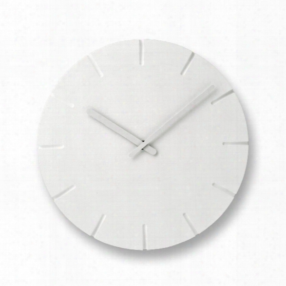 Carved Clock W/ Lines Design By Lemnos