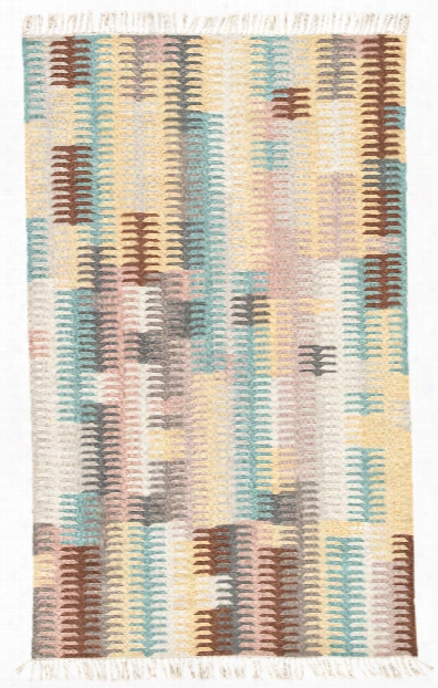 Carver Indoor/ Outdoor Abstract Turquoise & Yellow Superficial Contents Rug Design By Jaipur
