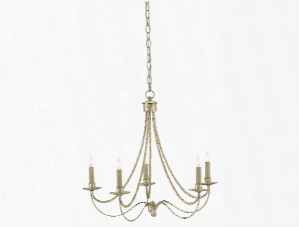 Cascade Chandelier In Majestic Silver Design By Currey & Company