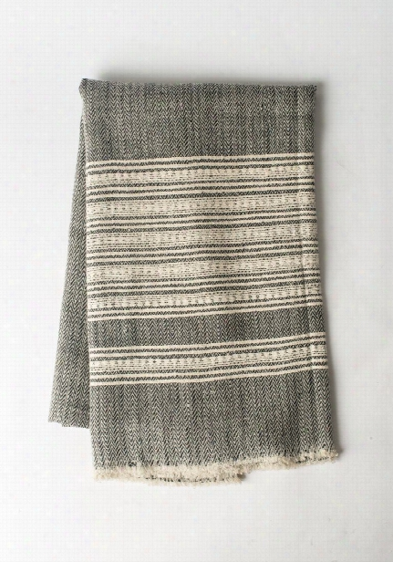 Cashmere Blend Throw In Zigzag Stripes Design By Bentley James