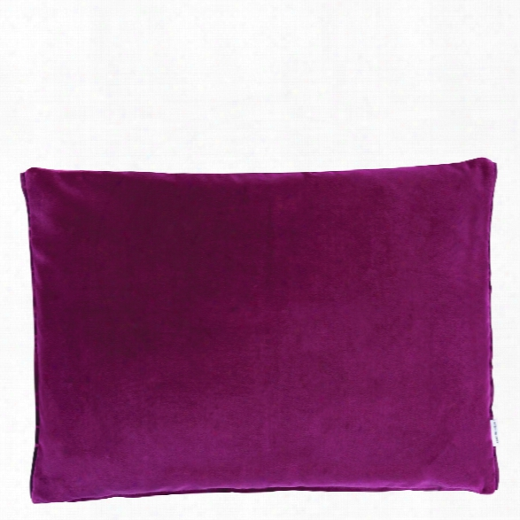 Cassia Throw Pillow In Magenta Design By Designers Guild