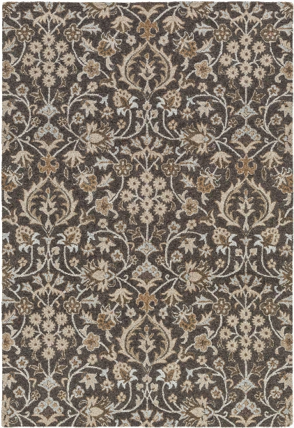 Castille Rug In Black & Taupe Design By Surya