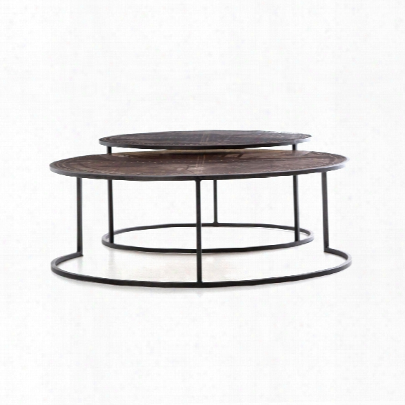 Catalina Nesting Coffee Table In Light Rustic Black