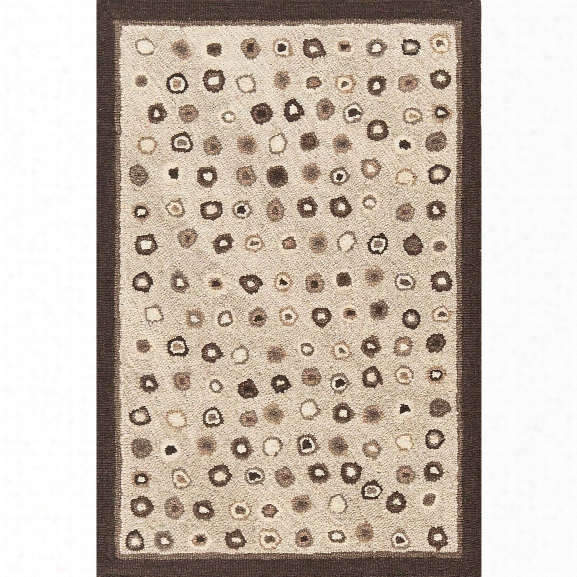 Cat's Paw Natural Wool Micro Hooked Rug Design By Dash & Albert