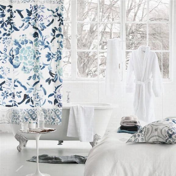 Cellini Graphite Shower Curtain Design By Designers Guild
