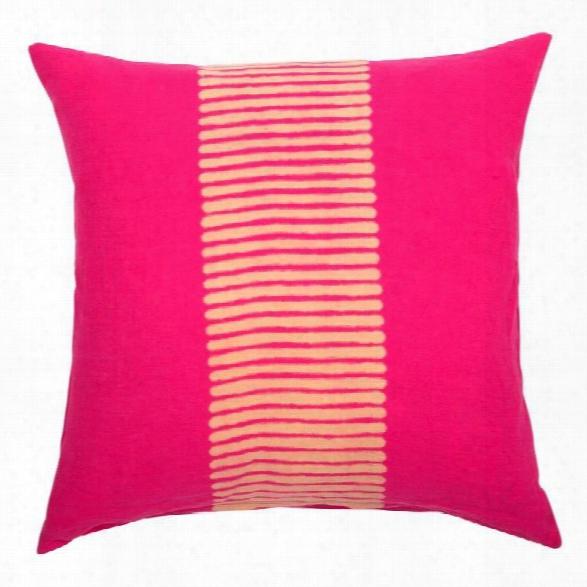 Center Stripes Pillow In Magenta Design By Sir/madam