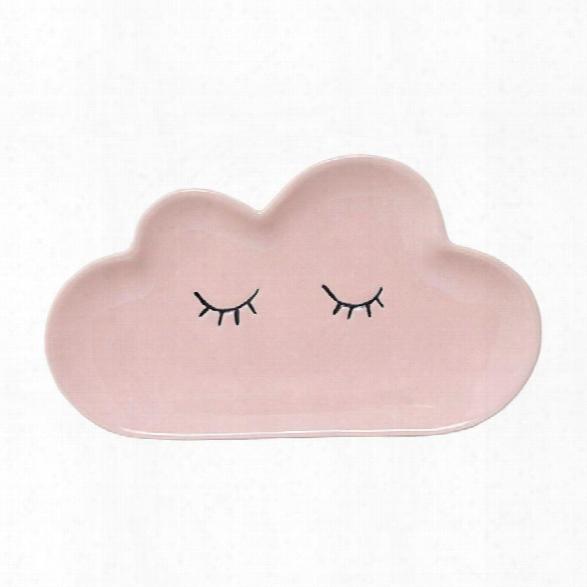 Ceramic Smilla Plate In Rose Design By Bd Mini