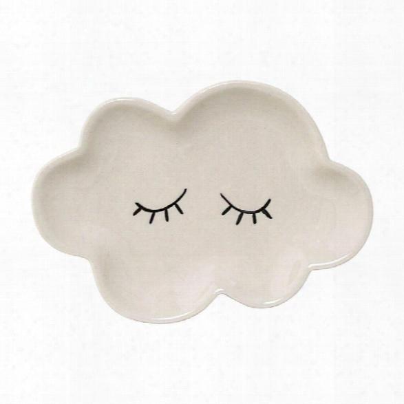 Ceramic Smilla Plate In White Design By Bd Mini