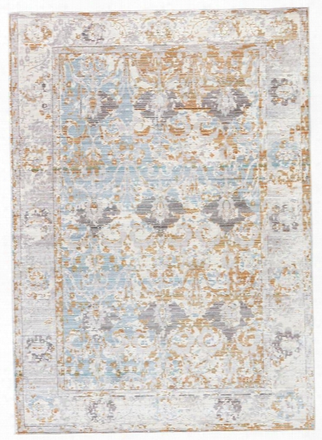 Ceres Rug In Antique White & Tourmaline Design By Jaipur