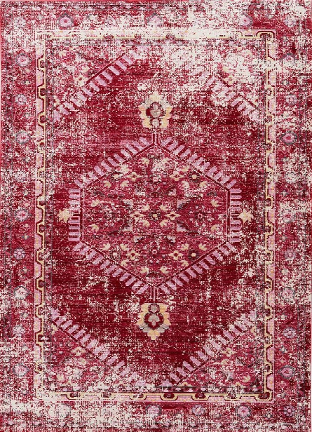Ceres Rug In Persian Red & Cashmere Rose Design By Jaipur
