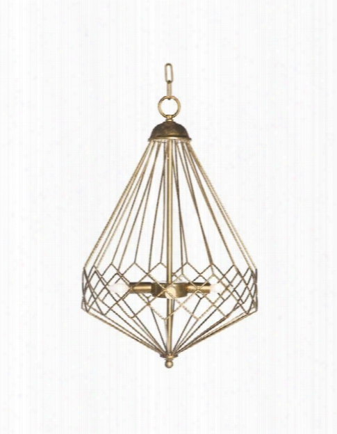 Chan Geo Collection Look No.9 Chandelier, Gold By Aidan Gray