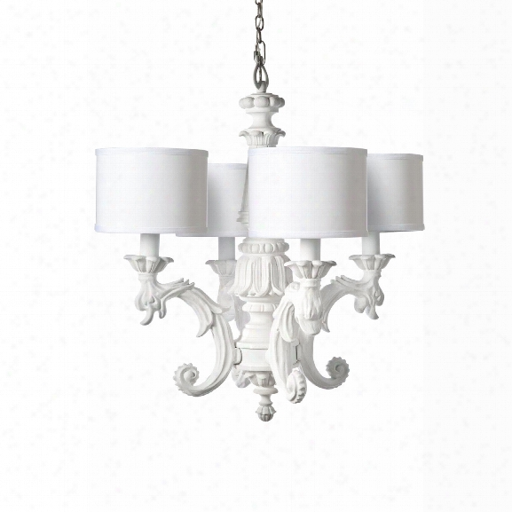Chandelier In White Design By Barbara Cosgrove